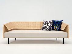 La Wrap Collection di Yamakawa Rattan Sofa Seats, Lounge Sofa, Couch, Outdoor Furniture, Outdoor Decor, Entryway Bench, Rattan, Furniture Design, Mandala