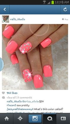 Girly nails…taken from instragram obviously :)