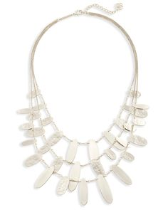 Nettie Statement Necklace in Bright Silver