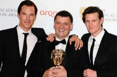 This guy in the middle is Steven Moffat, he's the instructed of the series Doctor who and Sherlock. I really love the series and they have changed my world.