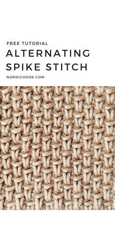Easy Crochet Stitches, Tunisian Crochet, Crochet Basics, Crochet For Beginners, Learn To Crochet, Free Crochet, Crochet Patterns, Crochet Dishcloths, Modern Crochet
