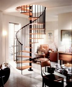Spiral Staircase down to basement