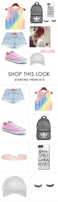 """Summer"" by brittaneystetson ❤ liked on Polyvore featuring Converse, adidas, Humble Chic and Topshop"