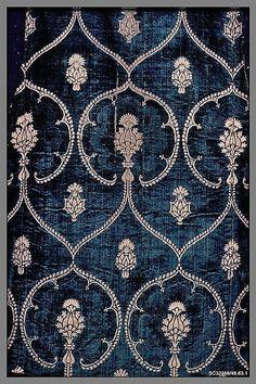 velvet panel late15th century Italy
