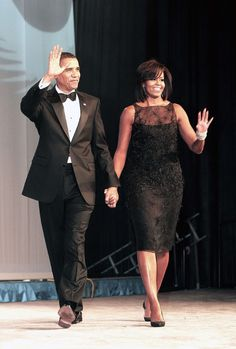 Black tie.....President Obama and First Lady Michelle Obama