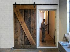 From reclaimed wood Sliding Doors