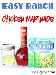 Easy Ranch Chicken Marinade Recipe! ~ from TheFrugalGirls.com ~ the secret to amazing chicken is a great marinade, and this is one of the BEST marinades I've had! #recipes #thefrugalgirls