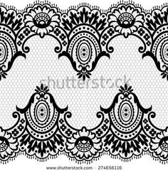 Stock Images similar to ID 171398015 - set of green floral border Border Pattern, Lace Border, Floral Border, Lace Painting, Dot Art Painting, Textile Pattern Design, Textile Patterns, Dots Design, Lace Design