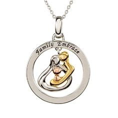 17 mm Jewels Obsession Solid 14K Rose Gold #1 Dad Pendant