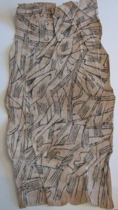 Vintage African Ituri Pygmy Zaire Bark Cloth Painting Estate Purchase  | eBay