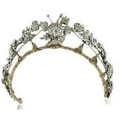 AN ANTIQUE DIAMOND NECKLACE/TIARA