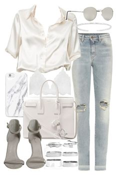 """Untitled #19865"" by florencia95 ❤ liked on Polyvore featuring Yves Saint Laurent, Brandy Melville, Forever 21 and Boohoo"