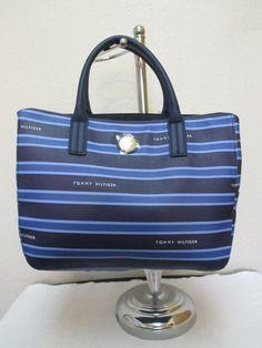 Tommy Hilfiger Handbag Shopper 6930388 461 Color Navy Blue Light Retail $89.00 #TommyHilfiger #Shopper