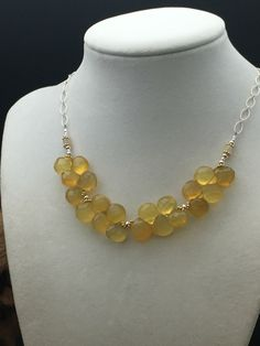 Yellow Chalcedony Necklace, Opal necklace, silver necklace, gemstone necklace,  Necklaces under 150 by AngelWearDesigns2013 on Etsy https://www.etsy.com/listing/505721679/yellow-chalcedony-necklace-opal-necklace