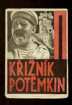 Kriznik Potemkin, F. Slang, Mala edice Odeon, 1926 | Photomontage cover by Karel Teige
