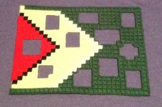 Cross stitch Guyana Photo frame