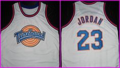 Michael Jordan Space Jam Tune  Squad  jersey ALL SEWN NO Print Duffy Bugs Any Size Name  Shipping Online tracking. $29.99, via Etsy.