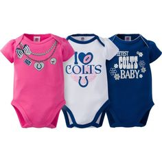 aa7e63f64 Gerber Infant Girl s Indianapolis 3-Piece Onesie Set