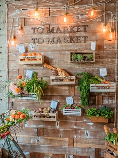 Get creative and bring a farmers market feel to your wedding.