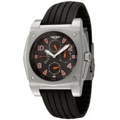 I By Invicta Men's 41698-001 Stainless Steel and Black Rubber Watch Invicta. $53.99. 60 second, 24 hour, day and date sub dials. Black dial with white luminous hands; orange hour markers, arabic numerals and sub dial hands. Durable mineral crystal; brushed and polished stainless steel case; black rubber strap. Water-resistant to 165 feet (50 M). Precise Japanese-quartz movement