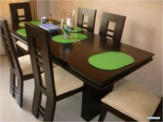 Wooden Dining Table Designs, Dinning Table Design, Wooden Dining Tables, Dining Table Chairs, Daining Table, Wood Pallet Furniture, Modern Furniture, House Front Design, Farmhouse Table