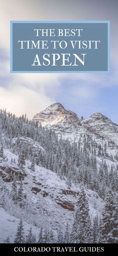Wondering when to go to Aspen for skiing, non-skiing, or fall colors? Here's a quick guide on the best time to visit Aspen Colorado. Aspen Colorado, Colorado Mountains, Colorado Springs, Denver Colorado, Denver Travel, Travel Usa, Travel Oklahoma, Best Cities In Europe, Europe On A Budget