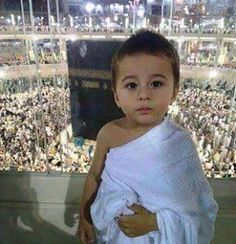 Mashallah, a young child wearing the Ihram before performing Umrah!