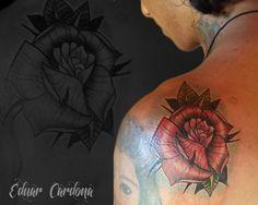 rosa tattoo neotraditional