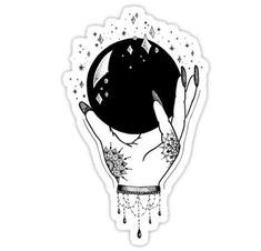 """Crystal Ball"" Stickers by georgiamason Black Tattoo Cover Up, Cover Up Tattoos, Tribal Tattoos, Black Tattoos, Gypsy Tattoos, Hip Tattoos, Arabic Tattoos, Stomach Tattoos, Tattoos Skull"