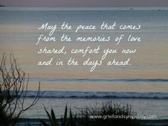 May the peace - comforting grief text.
