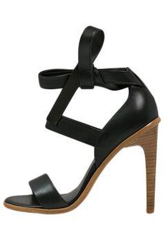 competitive price 76d95 6436b High Heel Sandalette - black. Sorte Sandaler