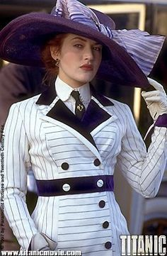 Titanic starring Kate Winslet as Rose DeWitt Bukater (1997).