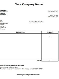 Invoice Templates In Word Itemized Receipt Excel Free  How To Make Itemized Invoice Templates .