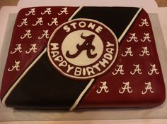 Alabama Birthday Cake made by Sister in-law Michelle Hallmark. She is awesome!
