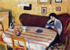 Our Living Room in Tegernsee August Macke (German, Oil on wood. Macke spent time in the Munich area in moving to the Tegernsee with his wife Elisabeth. Macke got to know Wassily Kandinsky and Alexej von Jawlensky in. August Macke, Reading Art, Woman Reading, Reading Books, Wassily Kandinsky, Claude Monet, Cavalier Bleu, Blue Rider, Franz Marc