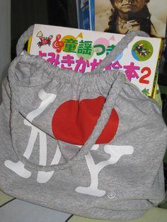 upcycled t-shirt bag