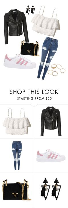"""""""outwear!#"""" by maidpolyvore ❤ liked on Polyvore featuring Hollister Co., IRO, Topshop, adidas Originals and Prada"""