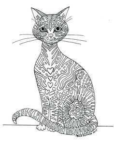 Printable Zen Critters Owl Love Coloring Page  Coloring for