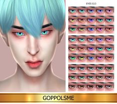 GoppolsMe is creating Custom Content Sims 4 Cas, Sims Cc, Gold Eyes, Pink Eyes, Los Sims 4 Mods, Play Sims 4, Sims 4 Anime, Sims 4 Cc Eyes, Gold Eyeliner