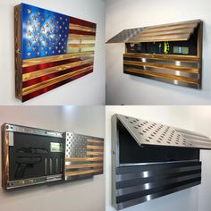 THE FREEDOM CABINET – Metal Art of Wisconsin Upcycled Home Decor, Repurposed, Hardwood Table, Solid Doors, Cold Rolled, Cabinet Space, Home Gadgets, The Freedom, Metal Signs