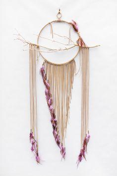 "Branch Dreamcatcher, Sunbird - 10"", tan leather dream catcher by BartonHollow on…"