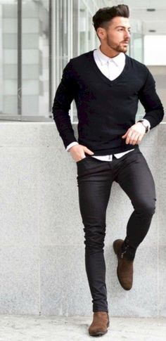 awesome 36 Men's Fashion Casual Jeans Outfits https://attirepin.com/2018/02/18/36-mens-fashion-casual-jeans-outfits/ #men'scasualoutfits