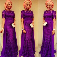 2015 Aso-Ebi Styles & Trends are going to be hot! But you don't need to worry because we will be bringing you all the latest fashion and trends…Whoop! African Lace Dresses, African Dresses For Women, African Wear, African Attire, African Women, African Style, Nigerian Dress, Nigerian Fashion, Ghanaian Fashion