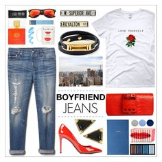 """""""Borrowed from the boys"""" by trendsbybren ❤ liked on Polyvore featuring Gap, Dolce&Gabbana, Perrin, A by Amara, Burberry, Clé de Peau Beauté, Kate Spade, Decorative Leather Books, BLVD Supply and Draper James"""
