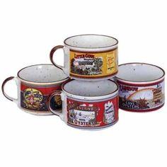 #tabasco #antiquelabels #bowls #gumbobowls #Louisiana Set of 4 Antique Label Tabasco Gumbo Bowls - $39 !!