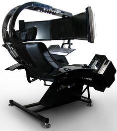 workstation 1 Computer Gaming Room, Computer Desk Setup, Computer Workstation, Gaming Room Setup, Gaming Chair, Computer Station, Video Game Rooms, Game Room Design, Game Room Decor