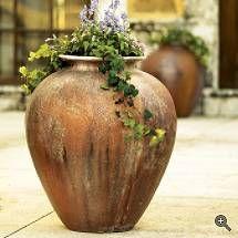 Tuscan Style urns  - #Tuscan #Home #Design - Find More Decor Ideas at:  http://www.IrvineHomeBlog.com/HomeDecor/  Irvine, California ༺༺  ℭƘ ༻༻