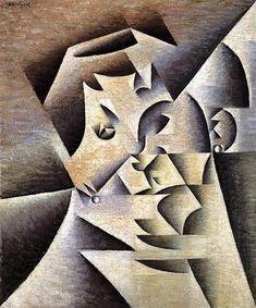 Juan Gris, Portrait of Pablo Picasso 1912 Georges Braque, Portraits Cubistes, Cubist Portraits, Pablo Picasso, Modern Art, Contemporary Art, Art Français, Sonia Delaunay, Cubism Art