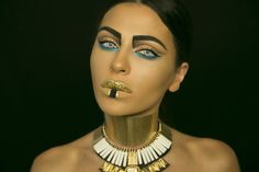 I don't know if I wanna call this halloween makeup an afterlife Cleopatra or Pharaoh, but whatever you wanna call it, I hope you love it! Give it a like and ...
