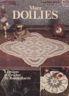 More Doilies, Leisure Arts Crochet Pattern Booklet 843